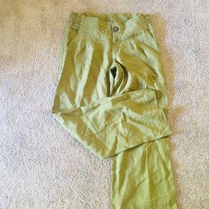 Athleta linen pants in olive